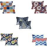 Radeet New Luxuries Designed 100% Pure Polycotton Pillow Covers ( Set of 5 Pair - 10pcs Pillow Covers ) ( Size 18 X 28 Inches