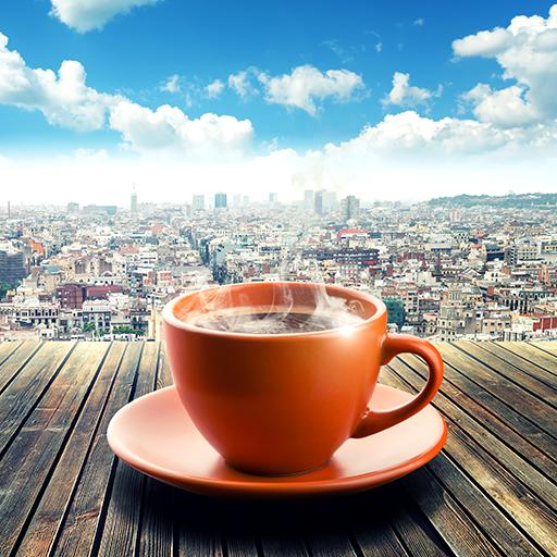 Kaffeetasse Live Wallpapers (Kaffee-tassen Grüner Berg)