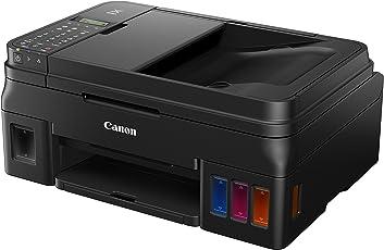 Canon PIXMA G4511-4-in-1-Multifunktionssystem Tintenstrahl (Drucker, Scanner, Kopierer, Fax, ADF, WiFi, Ethernet, USB 2.0, große Tintenbehälter, hohe Reichweite) schwarz