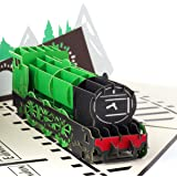 Steam Train Pop Up Card - Flying Scotsman Birthday Card, Train Birthday Card, Fathers Day Cards, Train Gifts for Men | Handma