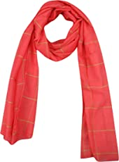 FabSeasons Red Chexs Cotton Scarf, Scarves, Stole and Shawl for Men