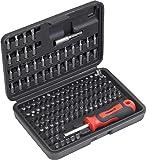 Meister Bit-Set 130-teilig - Chrom-Vanadium-Stahl - Gängige Standard- & Sicherheits-Bits - In praktischer Kunststoffbox / Bit-Satz für Schaubarbeiten / Bit-Sortiment / Schrauber-Bits / 3385430