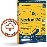 Norton 360 Deluxe 2021   5 Appareils   Antivirus, Sécurité Internet, Gestion Mots de Passe, Protection Webcam, Contrôle…