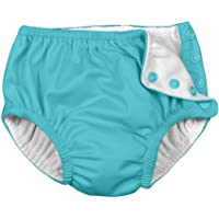 i play. by green sprouts Baby Snap Reusable Swim Diaper, Aqua, 12 Months