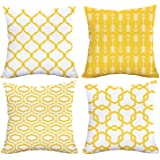 Alishomtll Cushion Covers 18x18 Inches Soft Plush Throw Pillow Covers Geometric 45cm x 45cm Polyester for Sofa Bedroom Pack o
