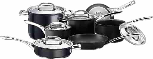 Circulon Infinite Hard Anodised 16 cm Milk Pan, 1.4L - Black
