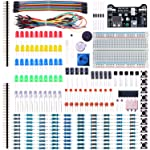 ELEGOO Electronic Fun Kit Bundle with Breadboard Cable Resistor, Capacitor, LED, Potentiometer for Arduino, Respberry Pi