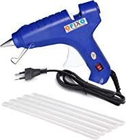 Ofixo 60-Watt Hot Melt Glue Gun with 5 Glue Sticks (Blue)