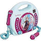 Lexibook Disney's Die Eiskönigin, Anna und Elsa CD-Player mit 2 Spielzeug-Mikrophonen, Kopfhöreranschluss…