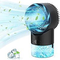 PATISZON Mobile Klimageräte, Klimaanlage Mobil Air Cooler Luftkühler mit Wasserkühlung Ventilator für Büro und Zuhause…