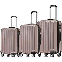 BEIBYE TSA-Schloß 2080 Hangepäck Zwillingsrollen neu Reisekoffer Koffer Trolley Hartschale Set-XL-L-M(Boardcase)