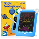 ATOPDREAM Tableta de Dibujo Pizarra 3D Mágico con Luces LED Educativo Infantil Dibujo Pizarra 8 Colores Luminosos - Juguetes