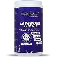 Nankings Epsom Salt Enriched With Lavender Oil, Lavender Bath Salt For Foot, Sleep, Bath, Aching Muscles, Relieve Stress…