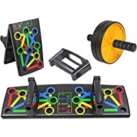 Hoodwin Push Up Board 14 In 1 with AB Roller |Portable Fitness Workout Support Equipment Multifunction Muscle Board…