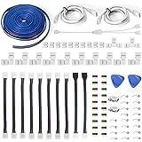 Led Strip Light Connectors 10mm 4Pin,Inclusief 12 Solderless Led Light Connectors,Biedt de meeste onderdelen voor DIY (10 ft)