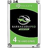 Seagate BarraCuda Pro 4 TB interne Performance Festplatte (8,89 cm (3,5 Zoll), SATA, 7200rpm, 256 MB Cache, SATA 6Gb/s, inkl. Datenrettungservice)