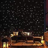 Wandtattoo-Loft 350 Leuchtpunkte und Leuchtsterne für Sternenhimmel – selbstklebend und fluoreszierend - Extra Starke Leuchtk