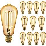 RinconLED-Bombilla filamento Led E27 estilo vintage decorativa,luz cálida 2700K de 6W,tipo Edison con filamento de LED,crista