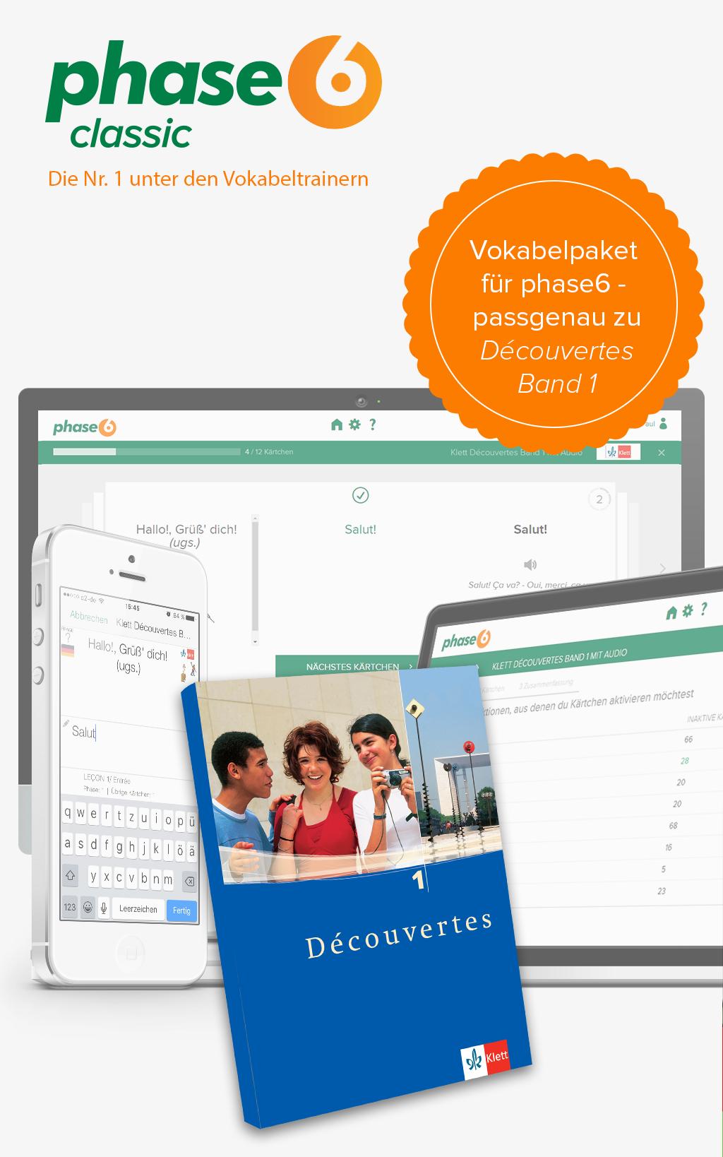 phase-6 Vokabelpaket zu Découvertes - Band 1 [Online Code]