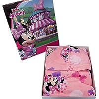 Nuovo Accappatoio con Cappuccio Originale Disney Minnie Topolina anni 2 3 4 5 6 7 100% Spugna di Puro Cotone Velour…