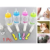 ADIOS Pet Nursing Kit Milk Bottle 150 Ml with Extra Nipple, Bottle Cleaner & Hole Pin- Color May Vary (1 Pc.)