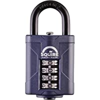 Squire robustes Vorhängeschloss (CP40) - Härteste Stahlbügel - 4-Rad-Kombinationsvorhängeschloss - Legierter Stahl für…