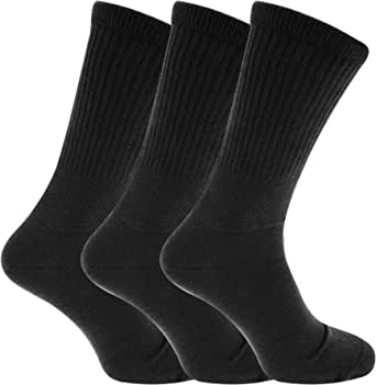 6x Pairs of Men's EXTRA WIDE Diabetic BIG FOOT Socks with Hand Linked Toe Seam/UK 11-14 Eur 45-49