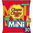 Chupa Chups - Sachet de 30 Mini Sucettes - Parfums Variés - Chupa Chups Cola et Goûts Fraise, Orange et Pomme - Sucettes à la