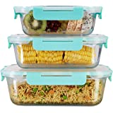 Allo FoodSafe 640ml, 1040ml & 1520ml Rectangle Glass Food Storage Container with Break Free Detachable Lock | 450°C Oven Safe