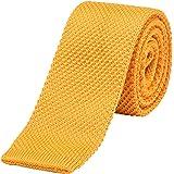 DonDon corbata de punto estrecha 5cm
