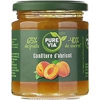 PURE VIA - Confiture d'Abricots 300g - Moins de Sucre, Plus de Goût - Origine Naturelle - 300g