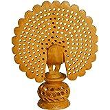 Sri Arundhathi Handicrafts Shivani Wooden Male Peacock (12 cm x 5 cm x 15 cm, Brown)