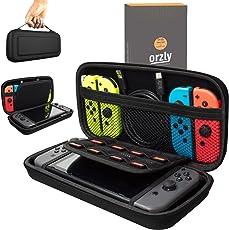 Orzly Tragetasche kompatibel mit Nintendo Switch – Aufbewahrungstasche / - Hartschalen Case/Cover / Hülle/Schutzhülle für die Verwendung mit der Nintendo Switch Konsole & Accesoires in SCHWARZ