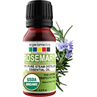 Organix Mantra Rosemary Essential Oil 15ML, USDA Organic for Skin, Muscle & Joints, Hair Conditioner - 100% Pure…