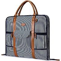 Carry On Indumento Borsa per Viaggi d'affari S-ZONE Canvas Leather Men Suit Cover - blu - Large