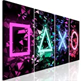 murando - Bilder für Gamers Spielkonsole 160x60 cm Vlies Leinwandbild 4 Teilig Kunstdruck modern Wandbilder XXL Wanddekoratio