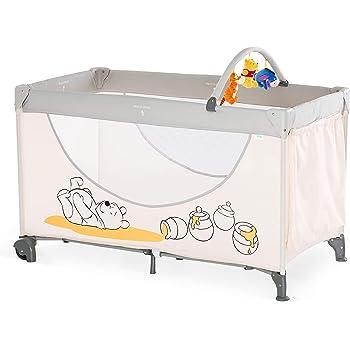 Hauck / Dream N Play Go/ Lit Parapluie 5 Pièces/ 102 x 60 cm/ Naissance à 15 kg/ avec Roues, Matelas, Sac de Transport, Arc Jeu, Poche/ Pliable/ Léger/ Inversable/ Pooh Cuddles (Beige)