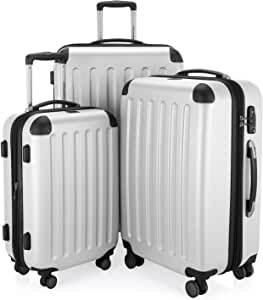 HAUPTSTADTKOFFER - Spree - Set de 3 valises, Bagages rigides, ABS, TSA, extensible, extra léger, 4 roues, (S M & L), Blanc