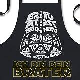 YORA Grillschürze für Männer lustig - Ich Bin Dein Brater - Vatertagsgeschenk inkl. BBQ-Urkunde - lustige Geschenke zum…