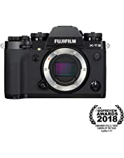 Fujifilm X-T3 Mirrorless Digital Camera (Body Only, Black) Memory Card and Bag