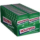 Hollywood- Chewing gum au parfum Chlorophylle - Boîte de 20x20 dragées