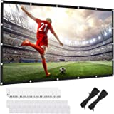 120 inch projectorscherm 16:9 HD Achter- en Frontale Filmscherm Opvouwbare Anti-Crease Draagbare Projector Filmscherm voor Fi