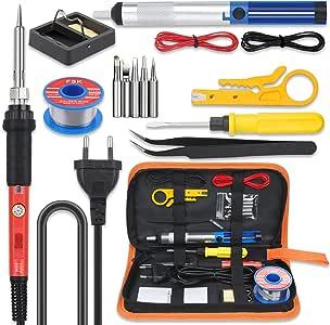 Ablöten Pumpe Lötkolben Werkzeug Kit Set Lot Dritte Hand Eisen Ständer