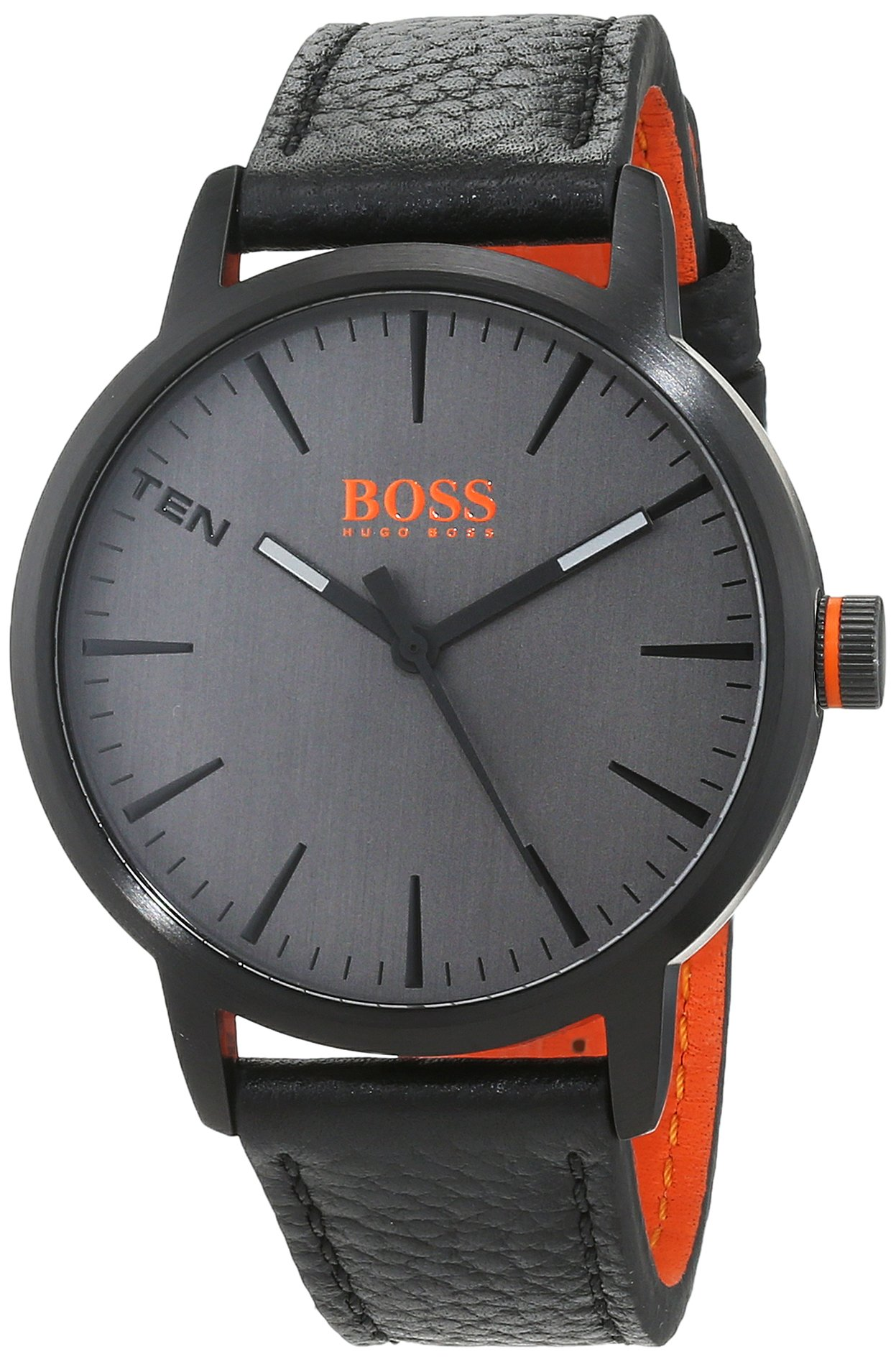 Hugo Boss Orange Herren-Armbanduhr Quarz mit Leder Armband 1550055 3