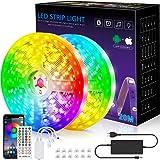 LED-Streifen, 20m Licht, Musiksynchronisation, Farbwechsel, RGB-LED-Streifen, 40-Tasten-Fernbedienung, empfindliches eingebau