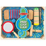Melissa & Doug Band in a Box Drum Musical Instrument Set, Multi Color (6 Pieces)