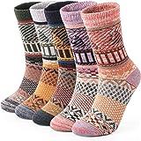5 Pairs Thermal Women Socks Wool Ladies Warm Socks Size UK 4-7 Multipack