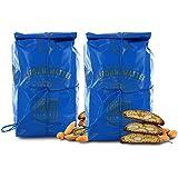 Biscotti di Prato alle Mandorle, Cantucci Classici alle Mandorle e Pinoli, Sacchetto 250g (Confezione da 2 Pezzi)