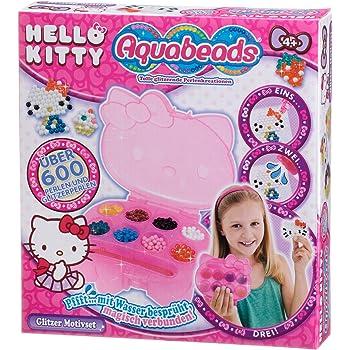 Aquabeads Kit Loisir Créatif Motif Hello Kitty Pailleté, Perles Pailletées,  Kit de Bricolage, 470d03771766