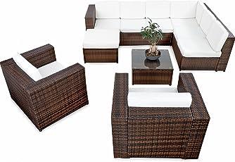 Deluxe Lounge Garnitur Cuba Sitzgruppe Gartenmöbel Rattan Set Geflecht  Polyrattan Inkl.